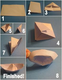 Origami Paper Boat Origami Paper Boat by diyforever Easy Crafts For Kids, Diy Arts And Crafts, Diy For Kids, Paper Crafts, Diy Crafts, Paper Art, Origami Paper Folding, Origami And Kirigami, Paper Boat Instructions