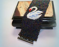 Handmade beaded jewelry bead loom bracelets от Patronessa на Etsy Handmade Beaded Jewelry, Unique Jewelry, Bead Loom Bracelets, Love Symbols, Loom Beading, Bracelet Making, Swan, Beads, Handmade Gifts