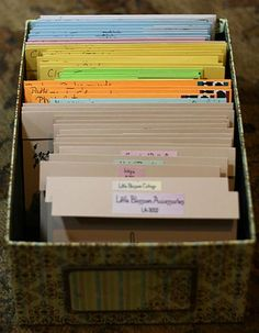 clear stamp storage - great idea!