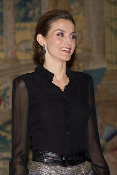 King Felipe of Spain, Queen Letizia of Spain and Chilean President Michelle Bachelet host a reception at the El Pardo Palace in Madrid, Spain. 30 October 2014