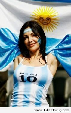 The Best Looking World Cup Fans - Argentina Female fan Hot Football Fans, Fifa Football, Football Girls, Soccer Fans, Soccer Girls, Lionel Messi, Argentina Football, Argentina Flag, Hot Fan