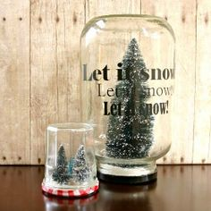 This simple craft makes a great holiday centerpiece!