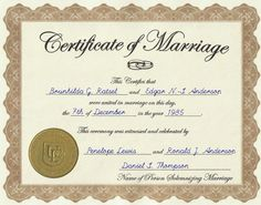 Create Your Marriage Certificate In Sea Blue Wedding
