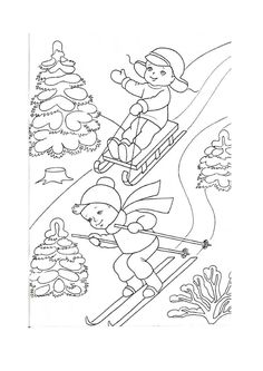 Les Saisons Christmas Color Pages Coloring Pages Winter