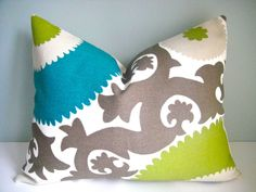 14x18 Lumbar Decorative Pillow In Suzani by simplydivinebyjoann, $28.00
