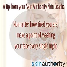 Why is it particularly important to wash your face at night? While you sleep, your skin goes into repair mode and has an improved ability to absorb your skin care products. For a step by step guide on how to cleanse your face, enter the BeautyWorkout Zone at blog.skinauthority.com #skinauthority #healthyskinlifestyle #clean #consistency #skintip