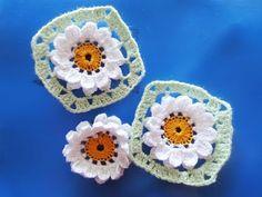 Цветок в квадрате Flower Crochet squared - YouTube