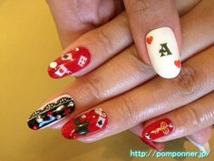 Nail of Alice's Adventures in Wonderland! Those would be perfect for my Alice in Wonderland birthday party!