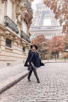 LOVE this jacket... I don't think I could do leather pants, but am captivated by this feel... maybe it's just Paris. :)