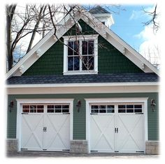 Aren't these carriage house doors lovely?| ... exterior main color and trim - CertaPro Painters - Painting Community