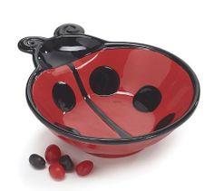 "Ladybug 7 1/2""D Serving Bowl Adorable Ladybug Kitchen Decor by Burton & Burton, http://www.amazon.com/dp/B008DH8K3G/ref=cm_sw_r_pi_dp_d3R9qb093A7ZE"