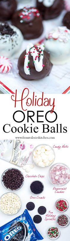 These delicious no-bake Holiday Oreo Cookie Balls are rich and decadent with a truffle-like center. Add them to your holiday cookie trays! @oreo  #sponsored: