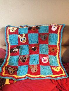 Animal face blanket