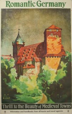 Original Vintage Posters -> Travel Posters -> Romantic Germany - AntikBar