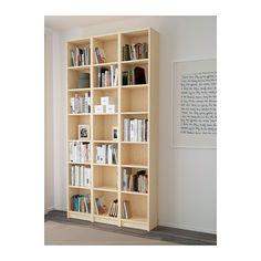BILLY Bookcase Birch Veneer 120x237x28 Cm. Narrow ShelvesIkea ...
