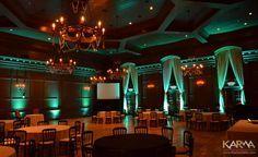 Villa Siena Gilbert AZ LED Uplighting Aqua Marine, Blue, Green, Light Blue, Red Orange and Amber