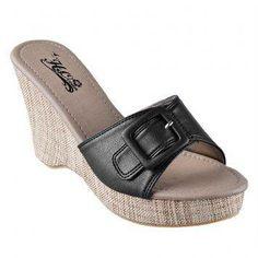 H2Ocean Hydee Wedge Sandals (Black)