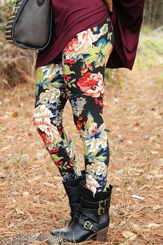 Bring You Flowers Leggings: Multi
