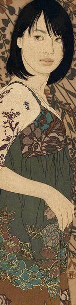 Ikenaga Yasunari - Japanese Illustration - Nihonga Style - Emiko