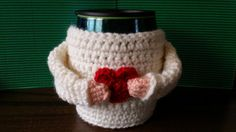 Warm/cozy Sweater Cup/Mug Cozy by LittleDebiSnack on Etsy, $10.00