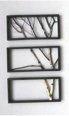 Wall decor from branches