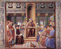 St Augustine Teaching in Rome (scene 6, south wall) 1464-65 Fresco