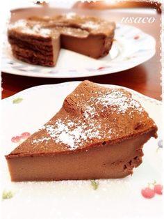 不思議食感♡プリンみたいなチョコケーキ by usaco3 [クックパッド] 簡単おいしいみんなのレシピが256万品