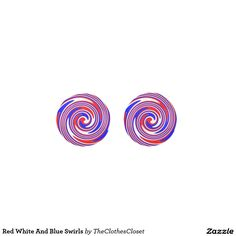 Red White And Blue Swirls Earrings