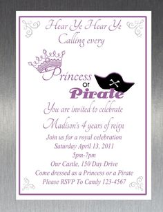 15 Awesome Princess Pirate Party Images Pirate Party Birthday