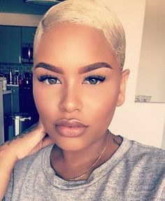 Blonde-Pixie-Cut-Black-Girl Best Short Pixie Hairstyles for Black Women 2018 – 2019 Curly Pixie Haircuts, Pixie Hairstyles, Hairstyles With Bangs, Hairstyles Pictures, Hairstyles 2016, School Hairstyles, Straight Hairstyles, Braided Hairstyles, Blonde Pixie Cuts