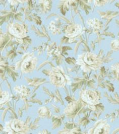 Shop Home Decor Fabrics-Waverly Summer Hideaway Glacier Fabric & Print Fabric at Joann.com