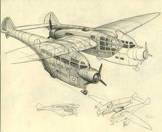 Dieselpunk airplane