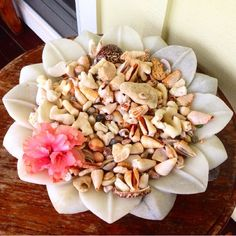 Assiette et coquillages