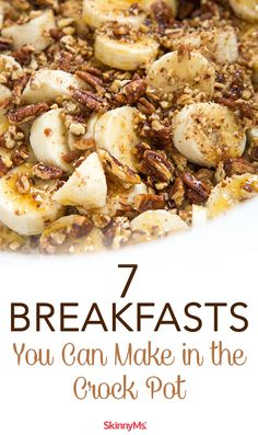 7 Breakfasts You Can Make in the Crock Pot Crockpot breakfasts help save time in the morning. A quick & easy way to enjoy a healthy meal. 7 Breakfasts You Can Make in the Crock Pot Slow Cooker Breakfast, Breakfast Crockpot Recipes, Healthy Crockpot Recipes, Dinner Recipes, Healthy Crock Pots, Eggs Crockpot, Healthy Breakfast Dishes, Crockpot Breakfast Casserole, Overnight Breakfast