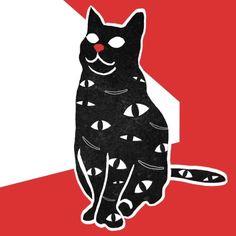 La ilustradora taiwanesa Min Liu dibuja y anima gatos vomitando gatos, humanos vomitando gatos, gatos triturados y gatos bebiendo gatos.