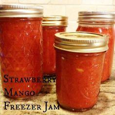 Strawberry Mango Freezer Jam (easy and delicious!)