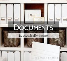 Minimalizing, decluttering, organizing Files, Letters, Documents, etc - Packing/Moving Tips