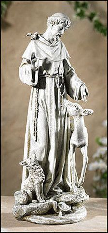 Long revered for his humble nature, and his special connection with nature and with animals, Saint Francis was the ultimate environmentalist. We have created these patio and garden pieces to honor tha