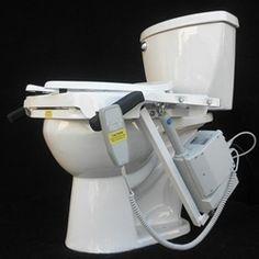Toilettes accessible avec aide pour s'asseoir et se relever
