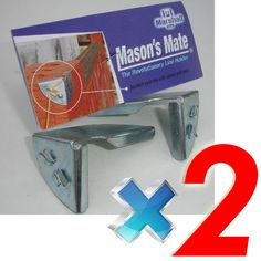 Masons Mate :: Builders Line Anchor Corner Brackets.Masons Mate - The revolutionary line holder.Builders Line Anchor - Anchors your building line with speed, ease and absolute accuracy. The line Cool Tools, Diy Tools, Trick 17, Brick Projects, Brick Laying, Construction Tools, Tools Hardware, Reinforced Concrete, Homemade Tools