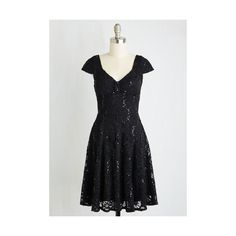 LBD Mid-length Short Sleeves A-line Cask Party Dress ($49) ❤ liked on Polyvore featuring dresses, apparel, black, black dress, sequin cocktail dresses, vintage black dress, black a line dress and vintage lace dress
