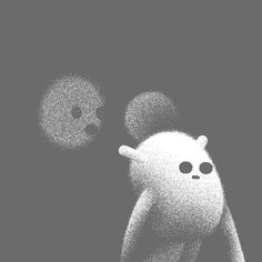 Ori Toor art animation black and white loop