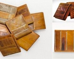 Coach Baseball Wallets - made out of vintage baseball gloves.