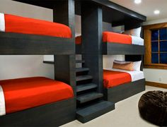 Modern Bunk Beds a dramatic california home that blends natural details with a glam