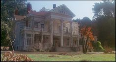 """Dunsmuir Estate, Oakland Hills, CA.  House as decorated for the film """"Burnt Offerings""""."""
