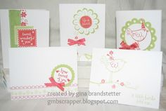 Gina's Little Corner of StampinHeaven: Life is Tweet - June Stamp of the Month