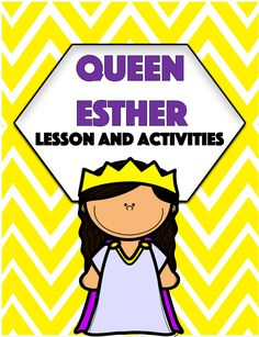 Queen Esther   Bible Lesson and Activities - Amped Up Learning Alphabet Activities, Writing Activities, Learning Resources, Queen Esther Bible, Silly Sentences, Christian Preschool, Christian Missionary, Orphan Girl, God Will Provide