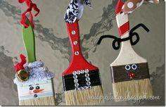 These DIY Paintbrush Ornaments would make a great Christmas gift for teachers, neighbors and friends. They are cute, unique and easy!