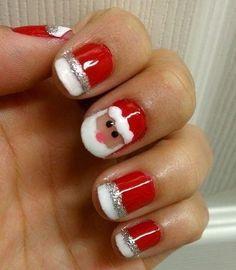 Christmas Santa nails :-)