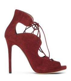 Tabitha Simmons Maroon Suede Lace-Up Sandal